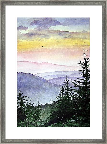 Clear Mountain Morning II Framed Print