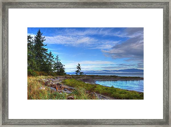 Framed Print featuring the photograph Clearing Skies by Randy Hall