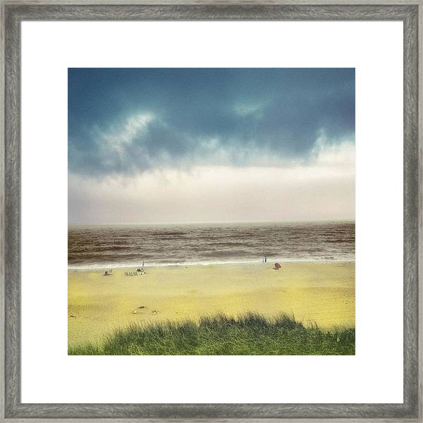 Clearing Storm Montauk  Framed Print
