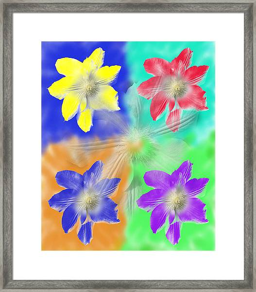 Clematis Osmosis Two Framed Print