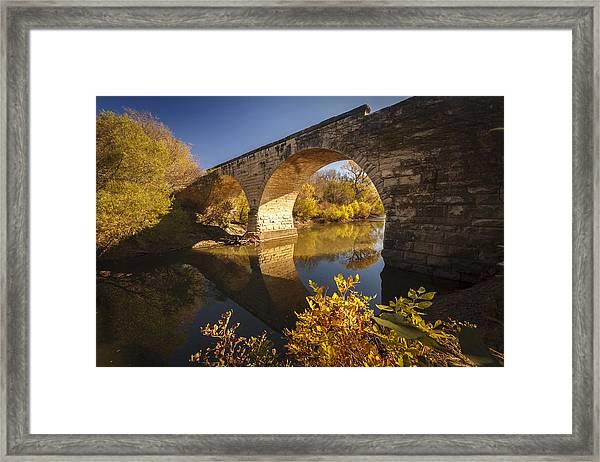 Clements Stone Arch Bridge Framed Print