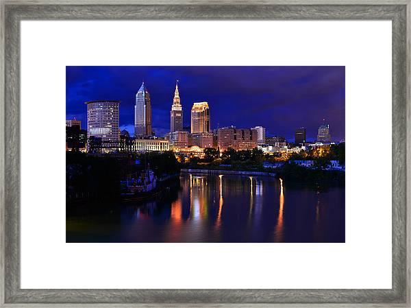 Cleveland At The River's Bend Framed Print