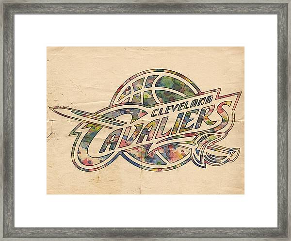 Cleveland Cavaliers Poster Art Framed Print
