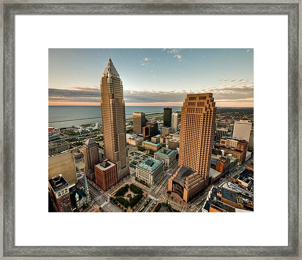Cleveland From A Birds Eye View Framed Print