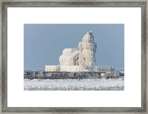 Cleveland Harbor West Pierhead Light Framed Print