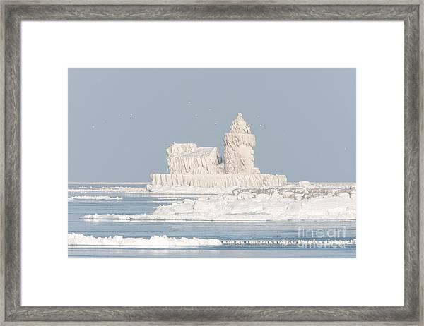 Cleveland Harbor West Pierhead Light II Framed Print