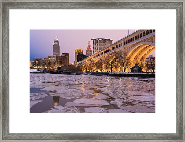 Cleveland Ice Chips Skyline Framed Print