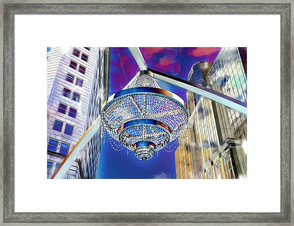 Cleveland Playhouse Square Outdoor Chandelier - 1 Framed Print