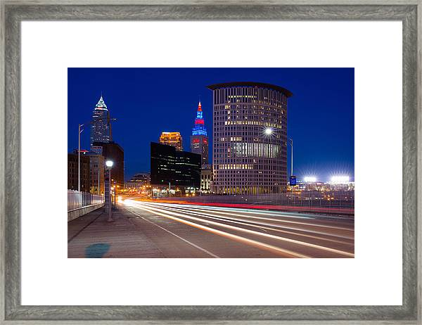 Cleveland Skyline Masterpiece Framed Print