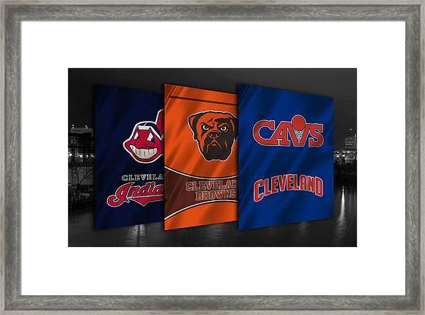 Cleveland Sports Teams Framed Print
