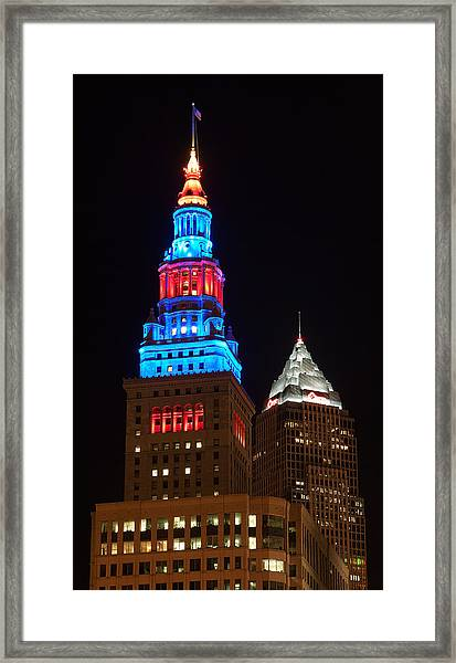 Cleveland Towers Framed Print