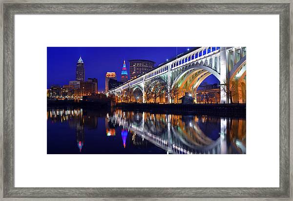 Cleveland Ultra-rez Panoramic Framed Print