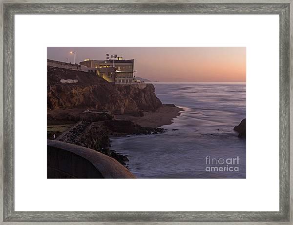 Cliff House Sunset Framed Print