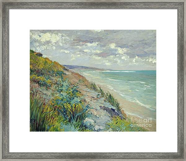 Cliffs By The Sea At Trouville  Framed Print