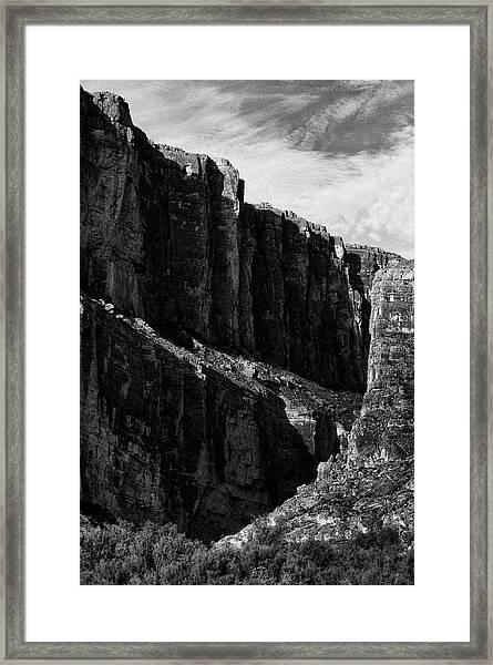 Cliffs In Contrast Framed Print