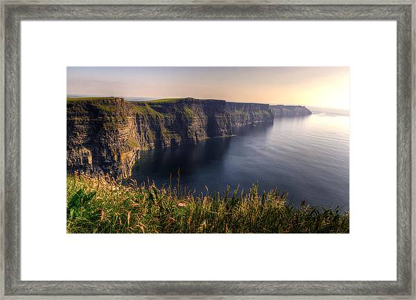 Cliffs Of Moher Distant Sunset Framed Print