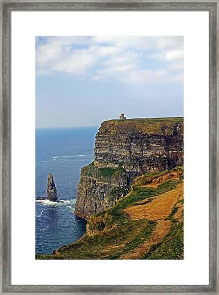 Cliffside Steeple Framed Print
