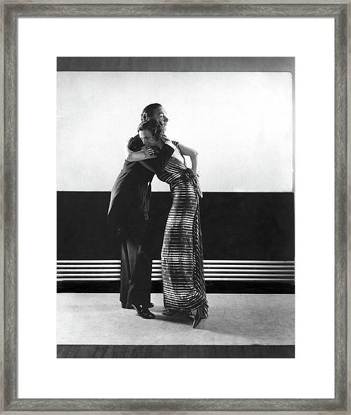 Clifton Webb And Irene Castle Dancing Framed Print by Edward Steichen