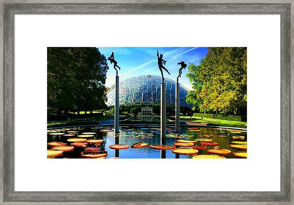 Climatron Geodesic Dome Landscape Framed Print
