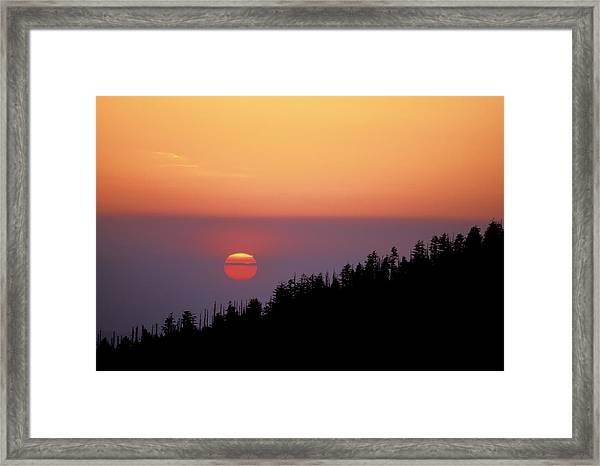 Clingman's Dome Sunset 02 Framed Print