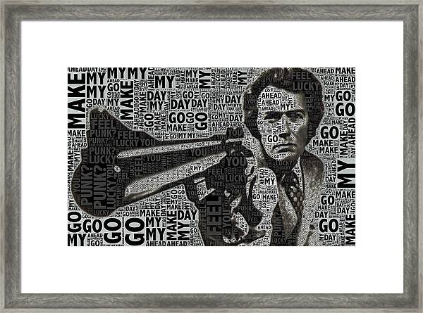 Clint Eastwood Dirty Harry Framed Print