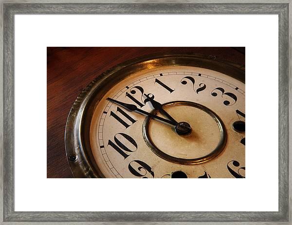 Clock Face Framed Print