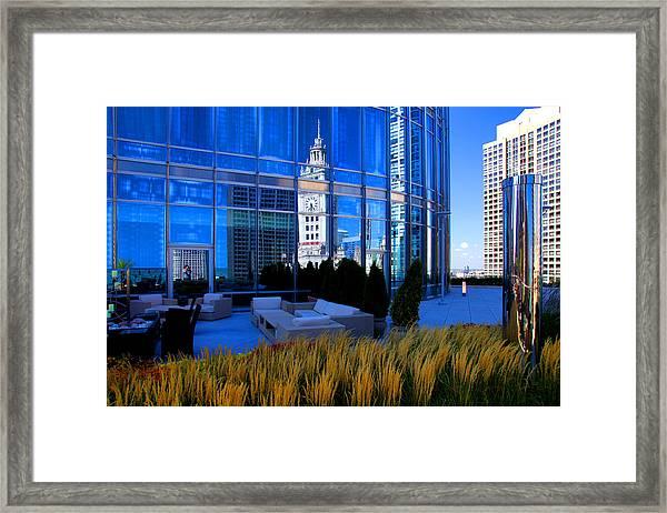 Clock Tower Reflection Framed Print