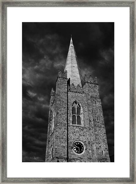 Clock Tower - St. Patrick's Cathedral - Dublin Framed Print