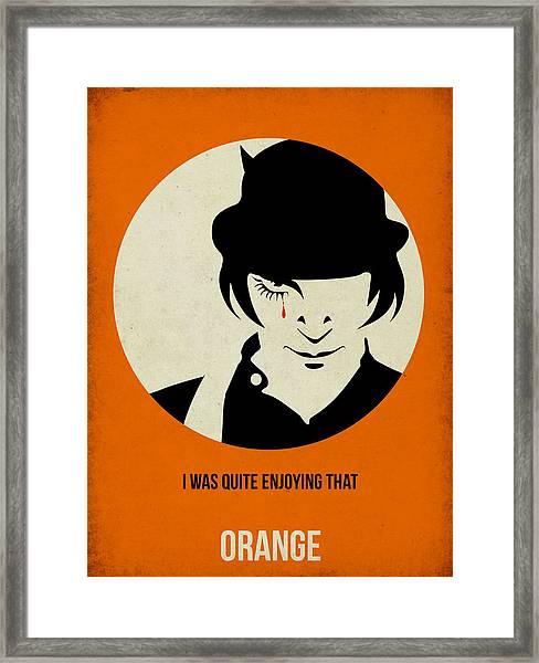 Clockwork Orange Poster Framed Print