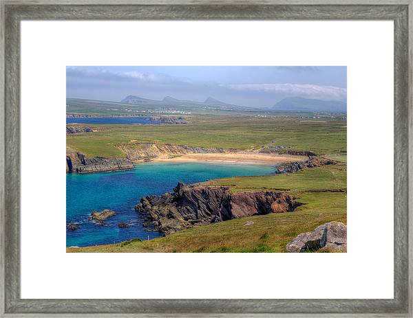 Clogher Beach Overlook Framed Print
