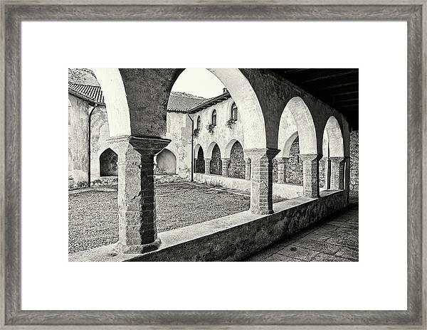 Cloister Framed Print