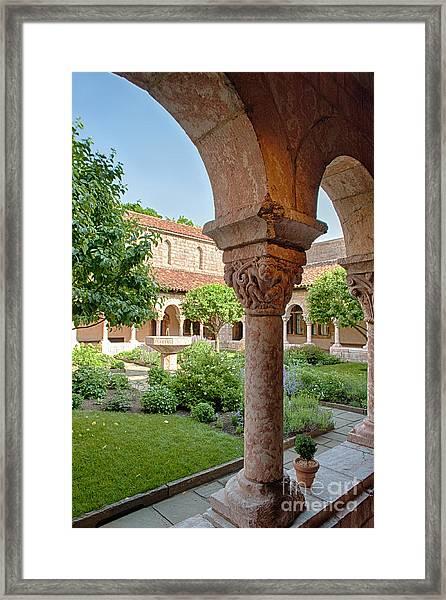 Cloisters Courtyard Framed Print