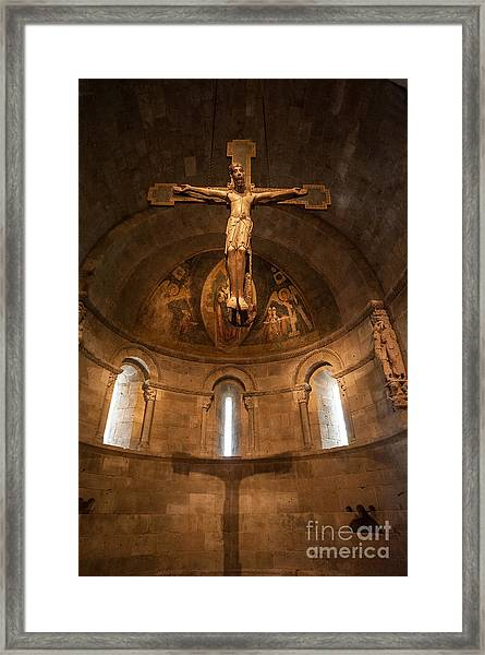 Cloisters Crucifixion Framed Print