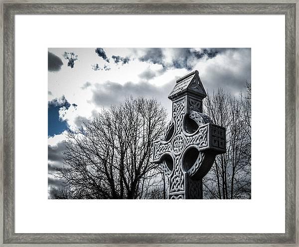 Clondegad Celtic Cross Framed Print