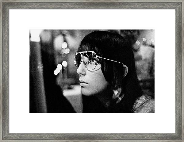 Close Up Of Cher Framed Print