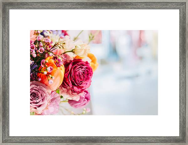 Close-up Of Pink Rose Bouquet Framed Print by Jan Tong / EyeEm