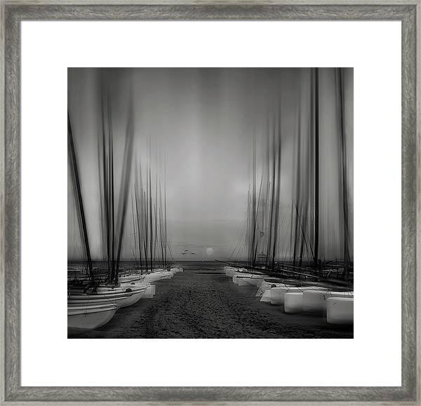 Close Your Eyes And Sail Away ... Framed Print