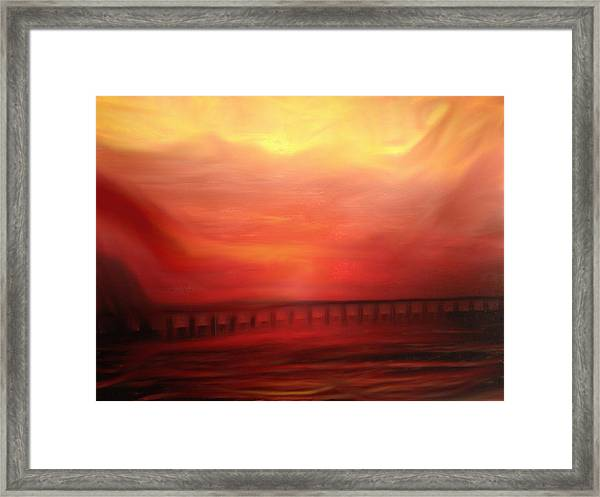 Closing The Hills Of Aaragon Framed Print