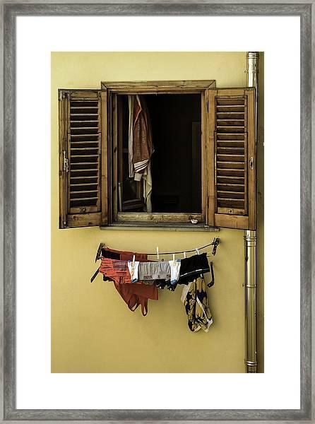 Clothes Dryer Framed Print