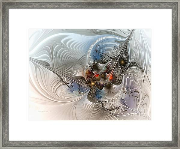 Cloud Cuckoo Land-fractal Art Framed Print