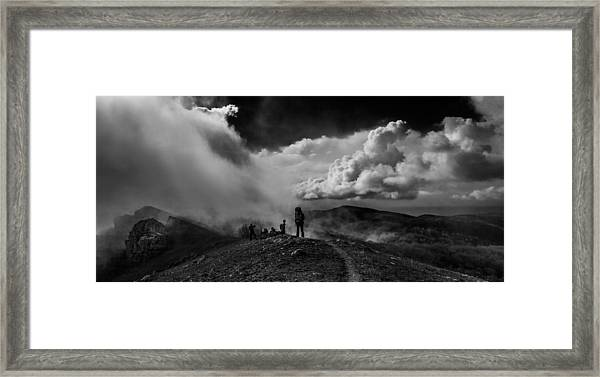 Cloud Factory Bw Framed Print