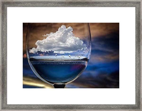 Cloud In A Glass Framed Print