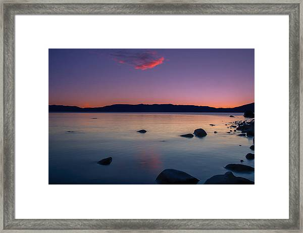 Cloud Reflection Before Sunrise Framed Print