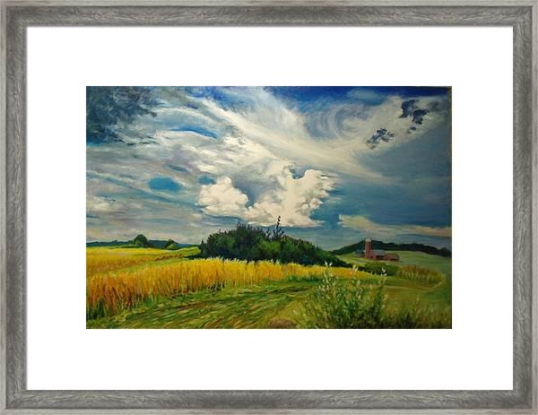Cloud Short Visit Framed Print