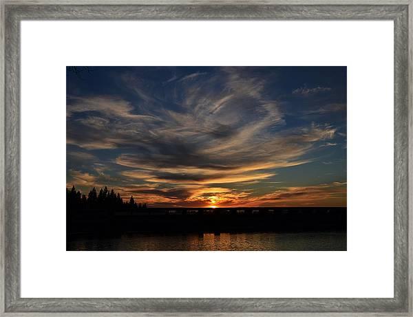 Cloud Swirl Sunset Framed Print