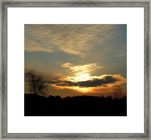Clouded Glory Framed Print