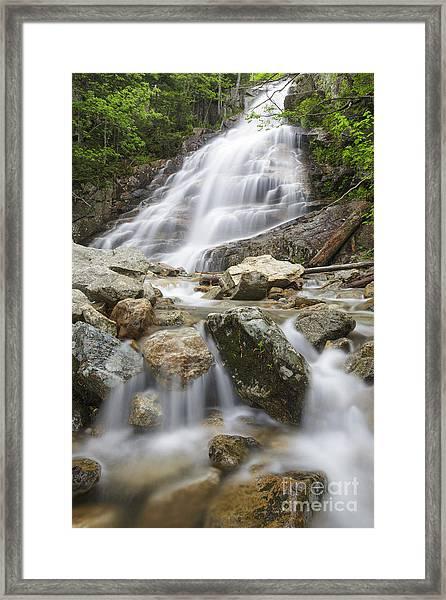Cloudland Falls - Franconia Notch State Park New Hampshire Usa Framed Print