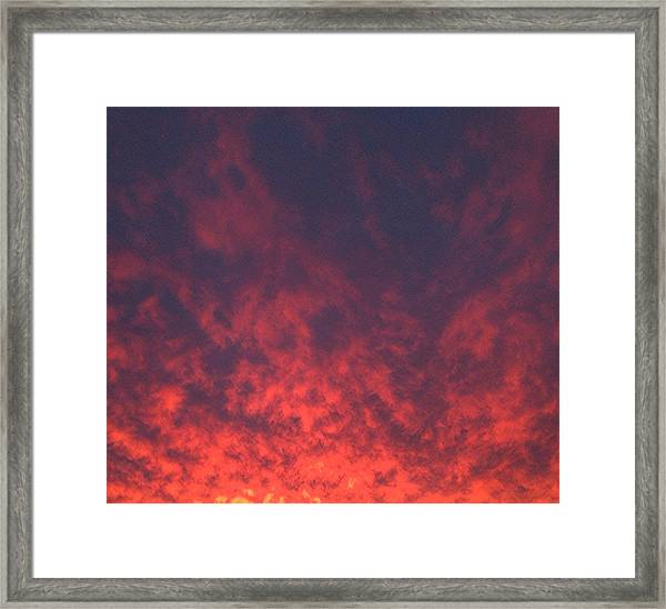 Clouds Ablaze Framed Print