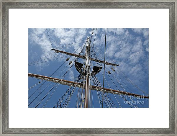 Clouds And Mast Framed Print
