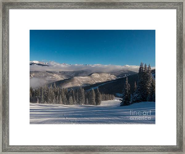 Clouds Moving In Framed Print